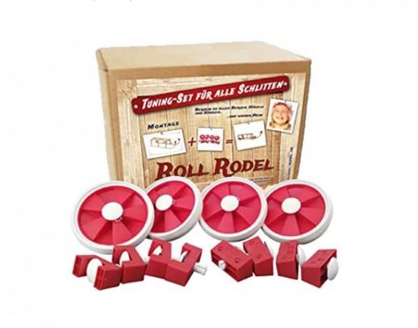 Rodelberg® Räder-Bausatz für Holzschlitten im 4 er-Set